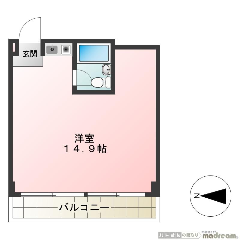 JR山手線「原宿駅」徒歩10分 オートロックの分譲賃貸マンション事務所 1ルーム 29.16㎡画像2