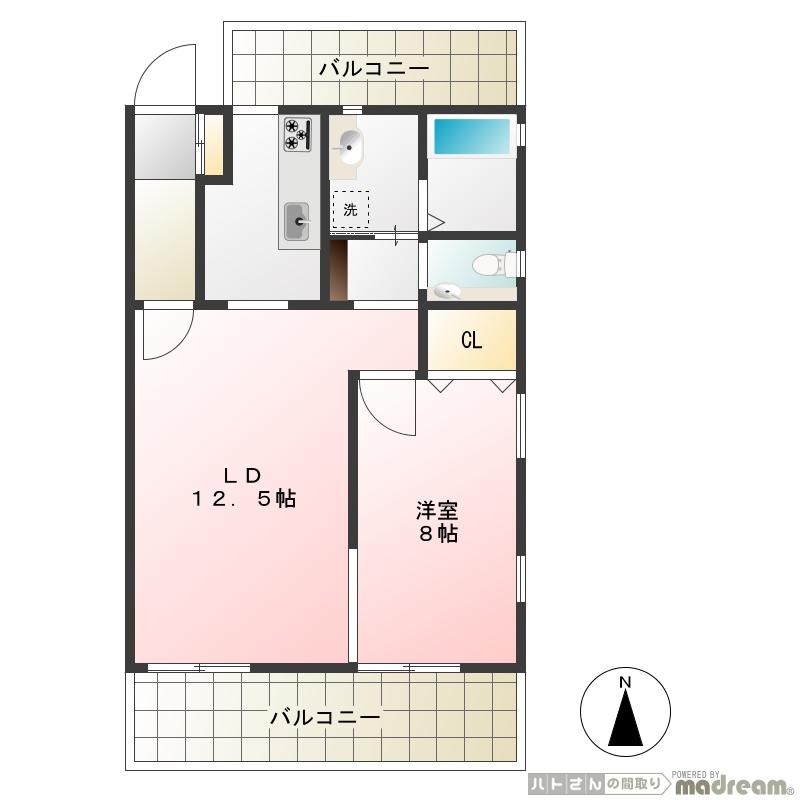 デザイナーズマンション GRACE COURT 東急池上線御嶽山駅徒歩2分 1LDK画像2