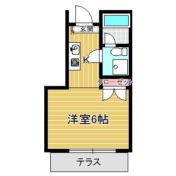 JR中央線 高円寺駅徒歩10分 ワンルーム アクアハウス画像2