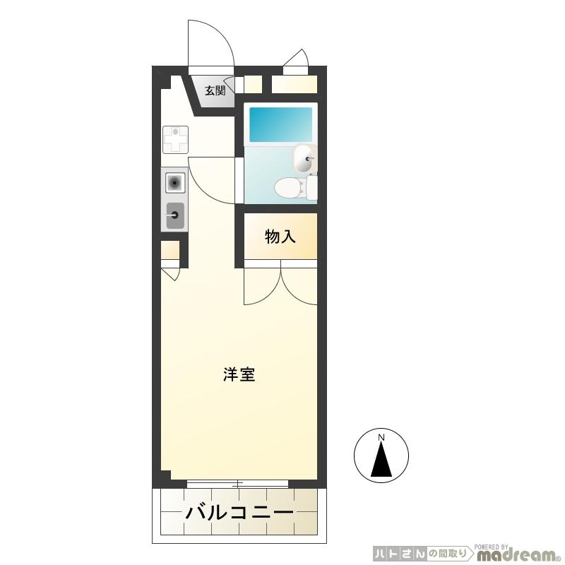 学生限定アパート オートロック JR中央線「武蔵小金井駅」徒歩2分 エミール小金井画像2