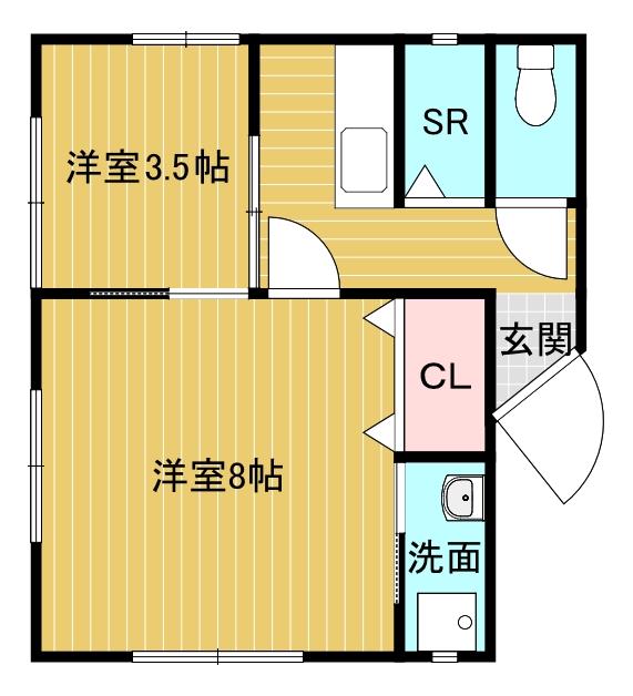 川元マンションA棟101号